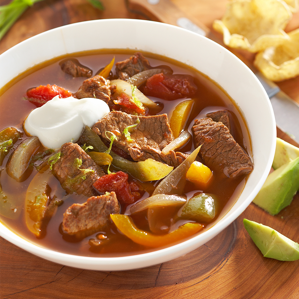 Beef Fajita Soup Diabetic Living Magazine
