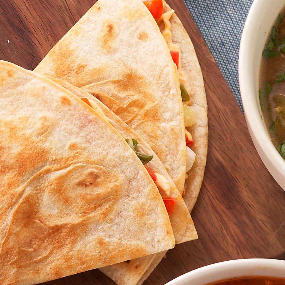 Sweet Pepper-Green Onion Quesadillas Trusted Brands
