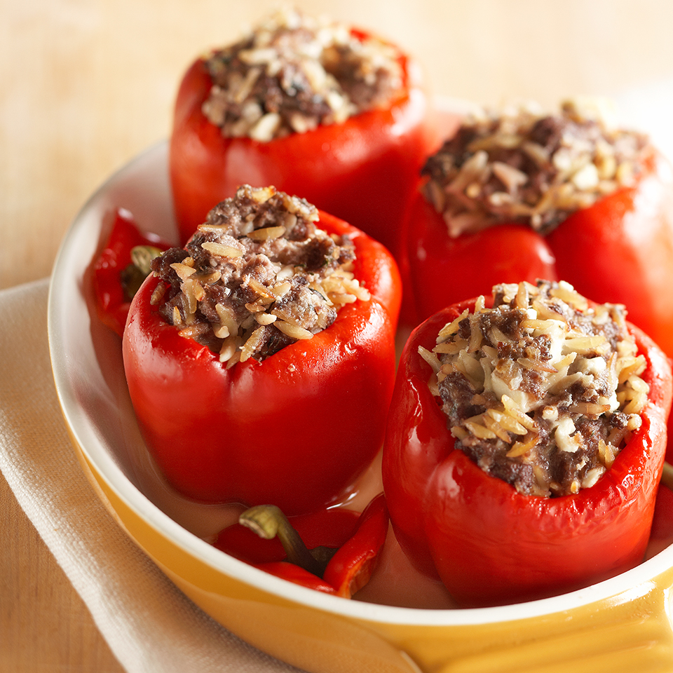 Stuffed Red Peppers Diabetic Living Magazine