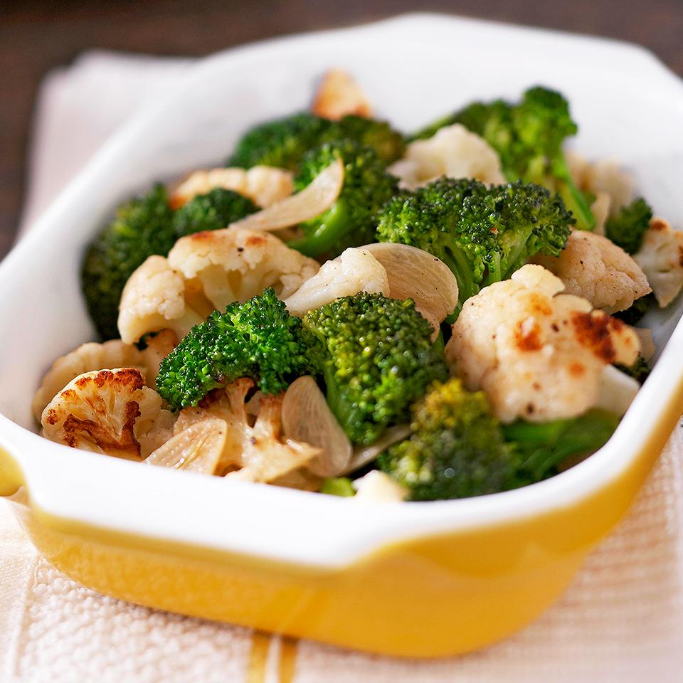 Broccoli and Cauliflower Sauté Diabetic Living Magazine