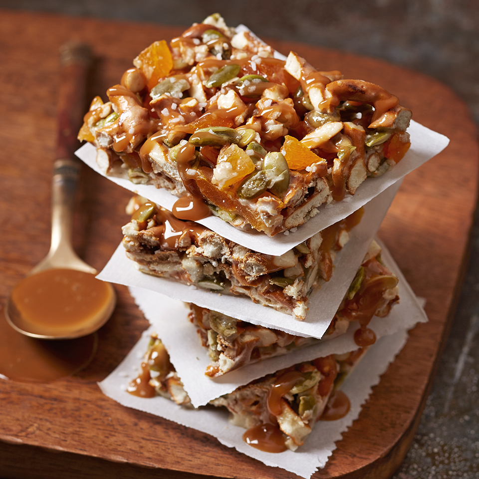 Salted Caramel Pretzel-Oat Bars Allrecipes Trusted Brands