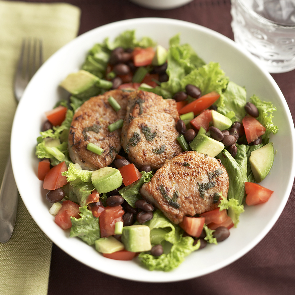Lemon-Sage Pork Salad with Red Hot Pepper Vinaigrette Diabetic Living Magazine