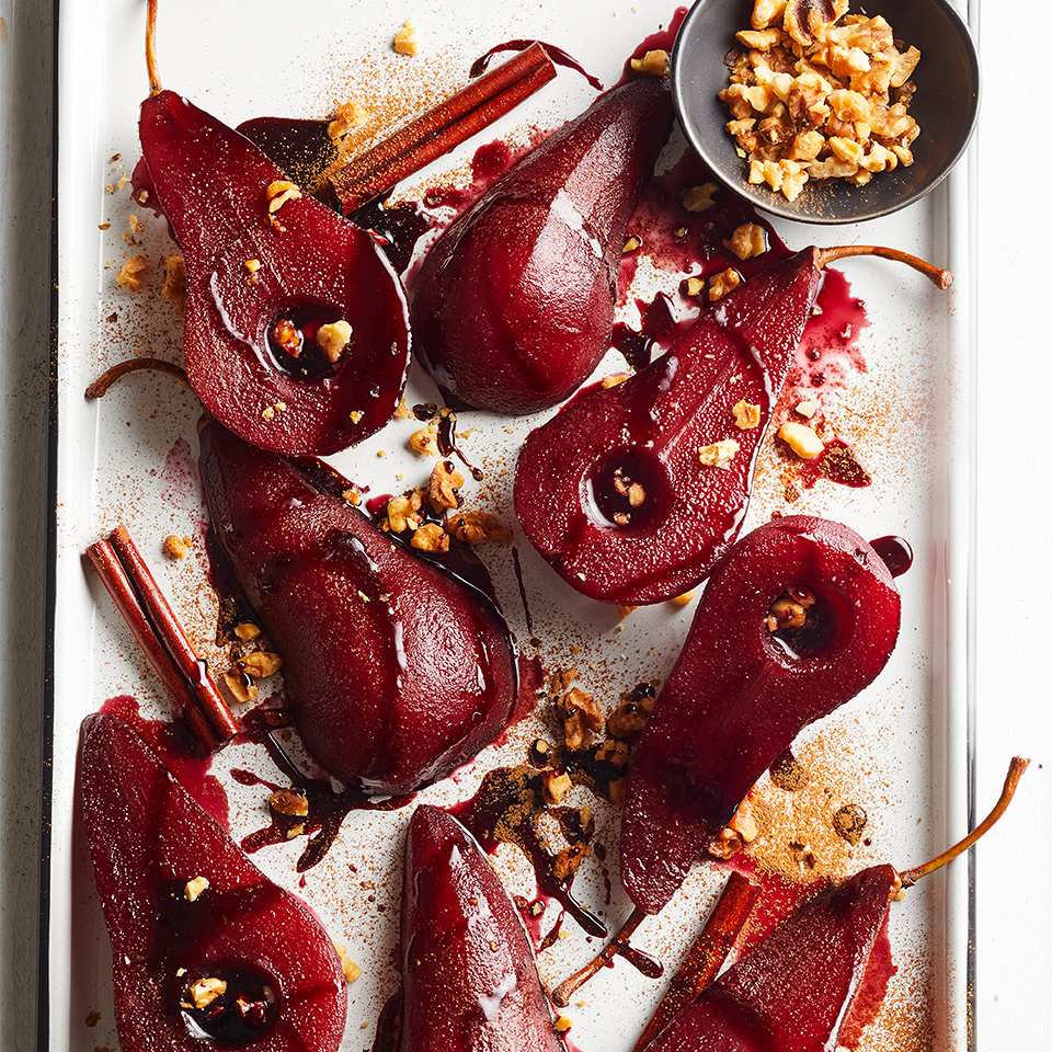 Spiced-Pomegranate Poached Pears Diabetic Living Magazine