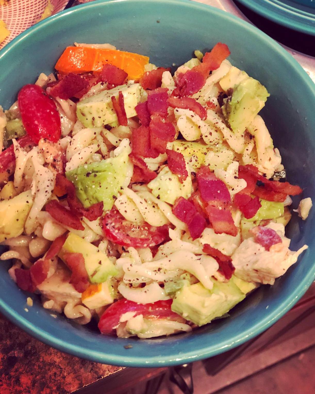Chicken Club Pasta Salad