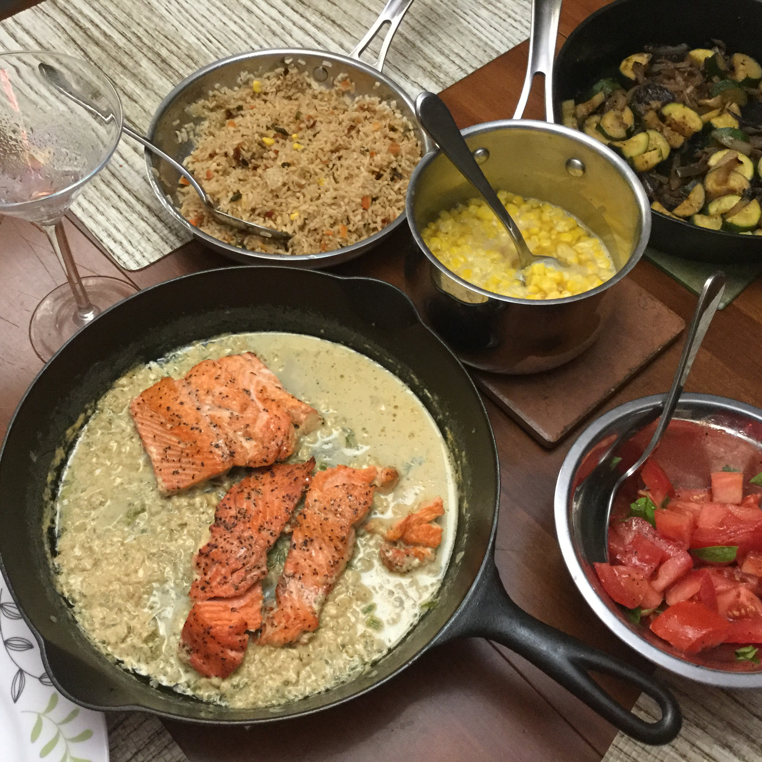 Salmon with Creamy Dill Sauce from Swanson® Audrey Myers