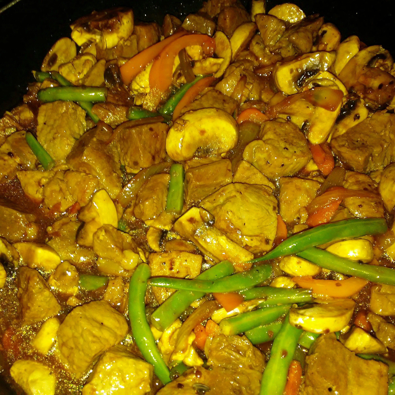 Honey-Soy Pork and Vegetables Julie Tabor