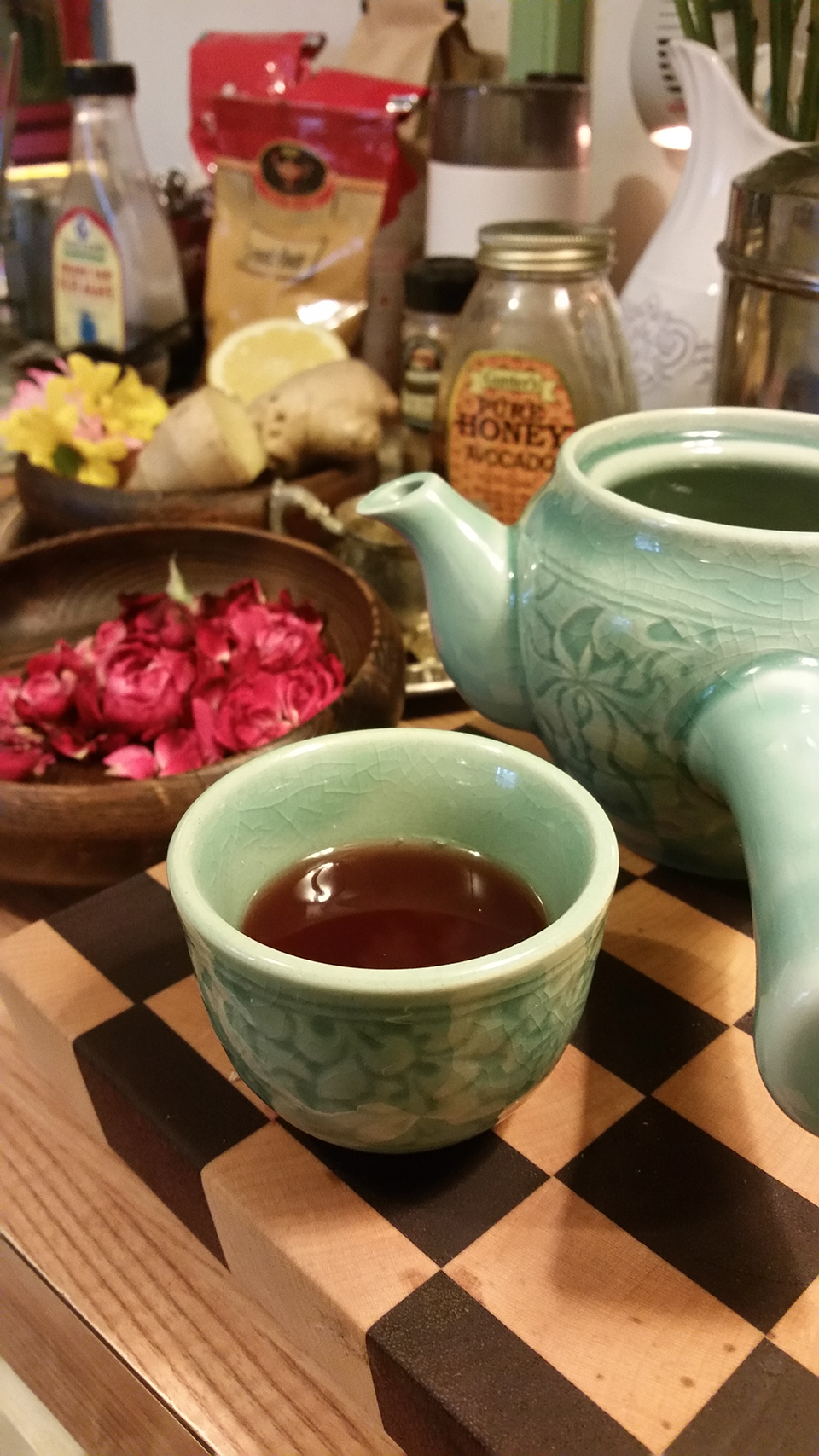 Tart Rose and Ginger Tea