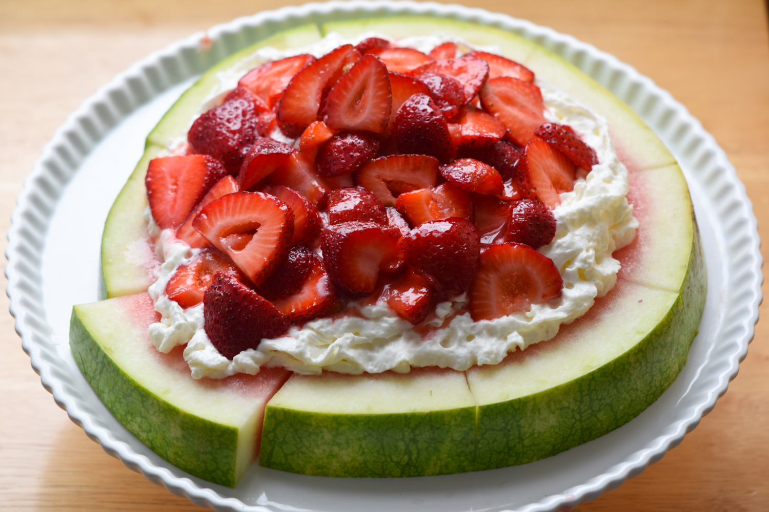 Strawberry Shortcake Watermelon Pizza