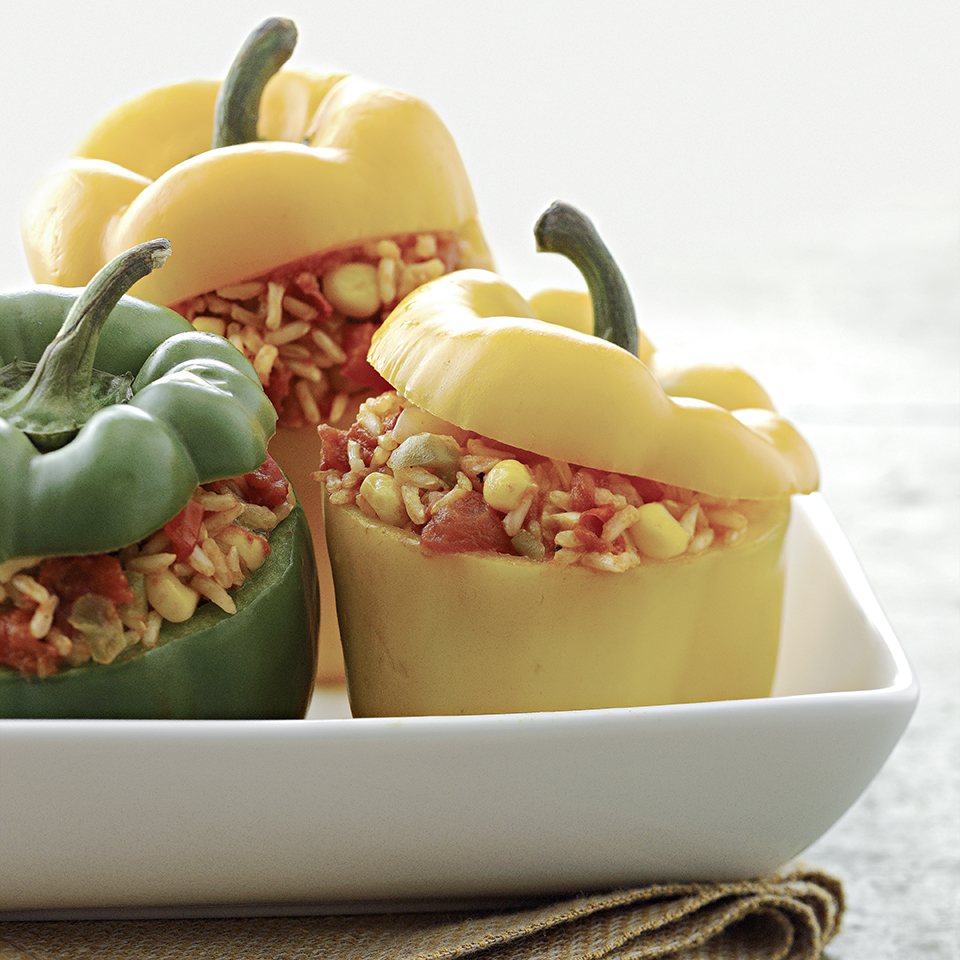 Brown Rice-Stuffed Peppers Allrecipes Trusted Brands