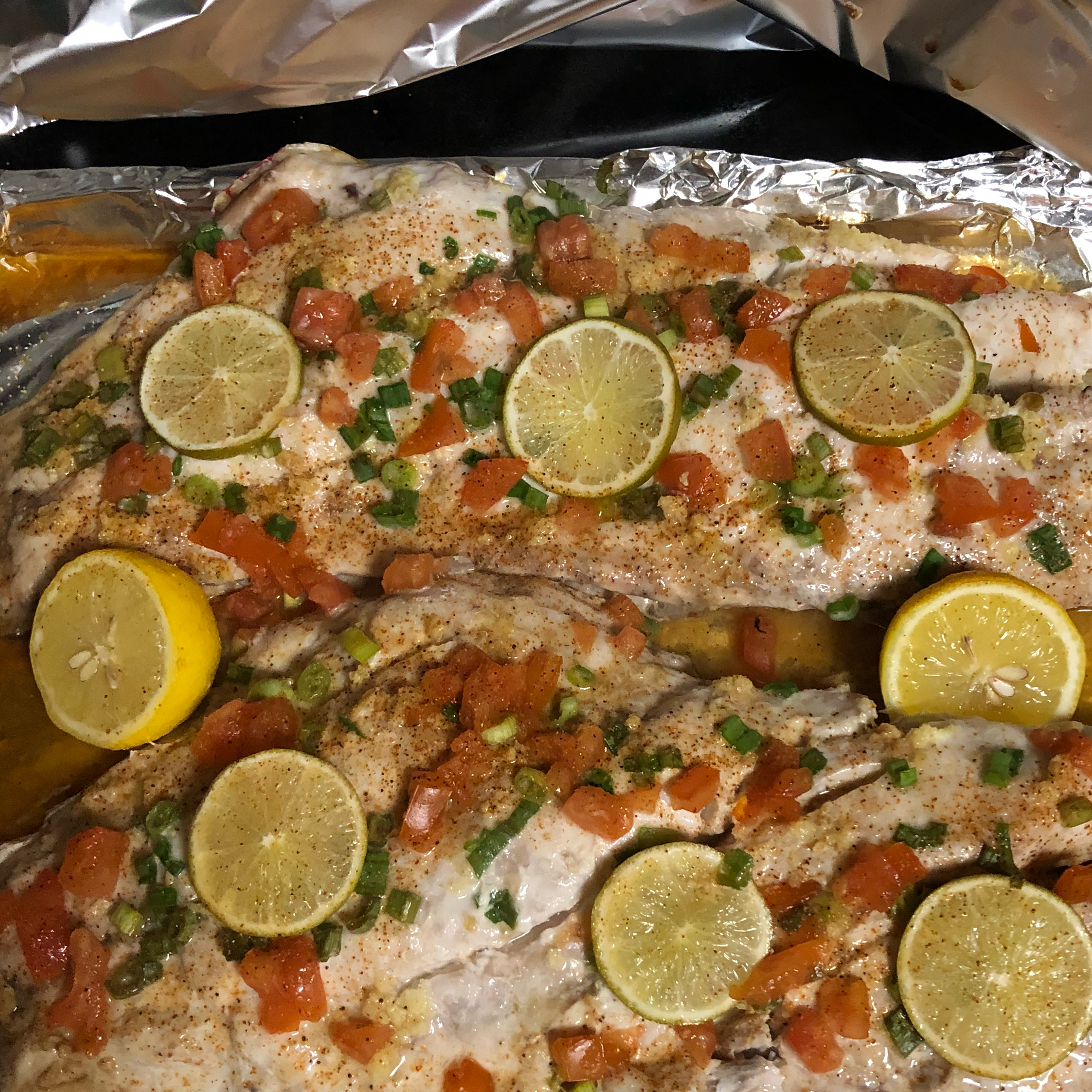 Baked Snapper with Citrus and Ginger