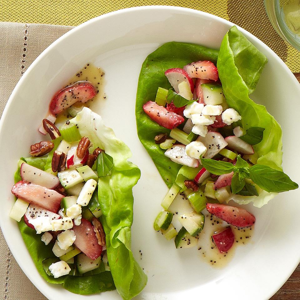 Strawberry Fields Lettuce Cups Diabetic Living Magazine