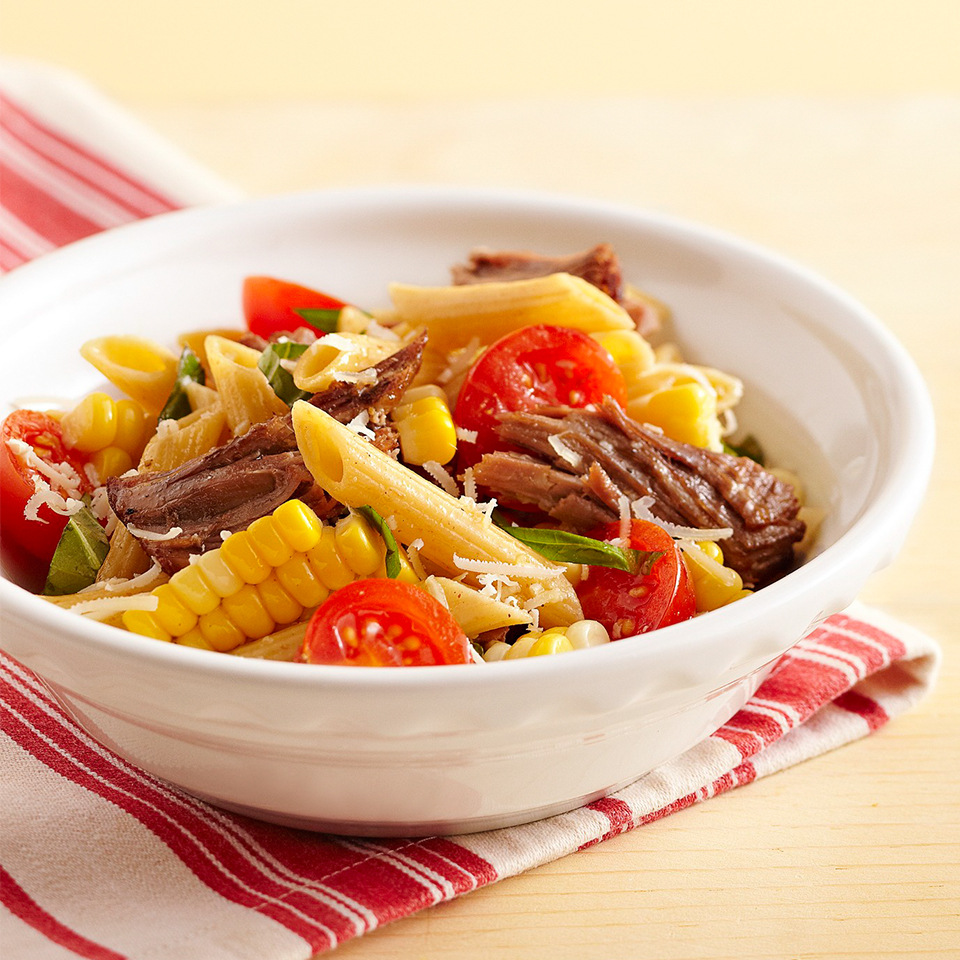 Beefy Pasta Salad Allrecipes Trusted Brands