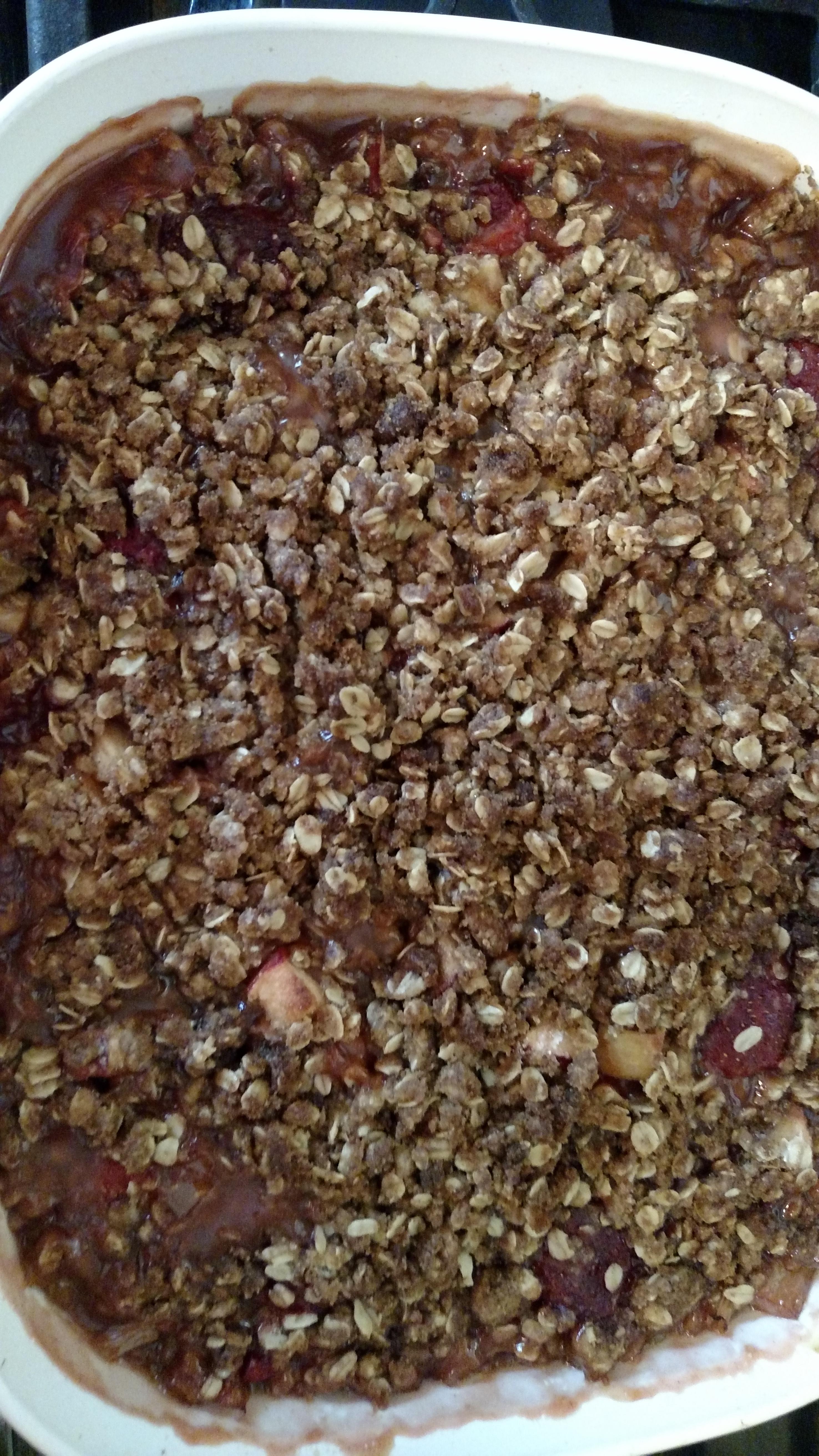 Easy Rhubarb Crisp Kitchen Carol