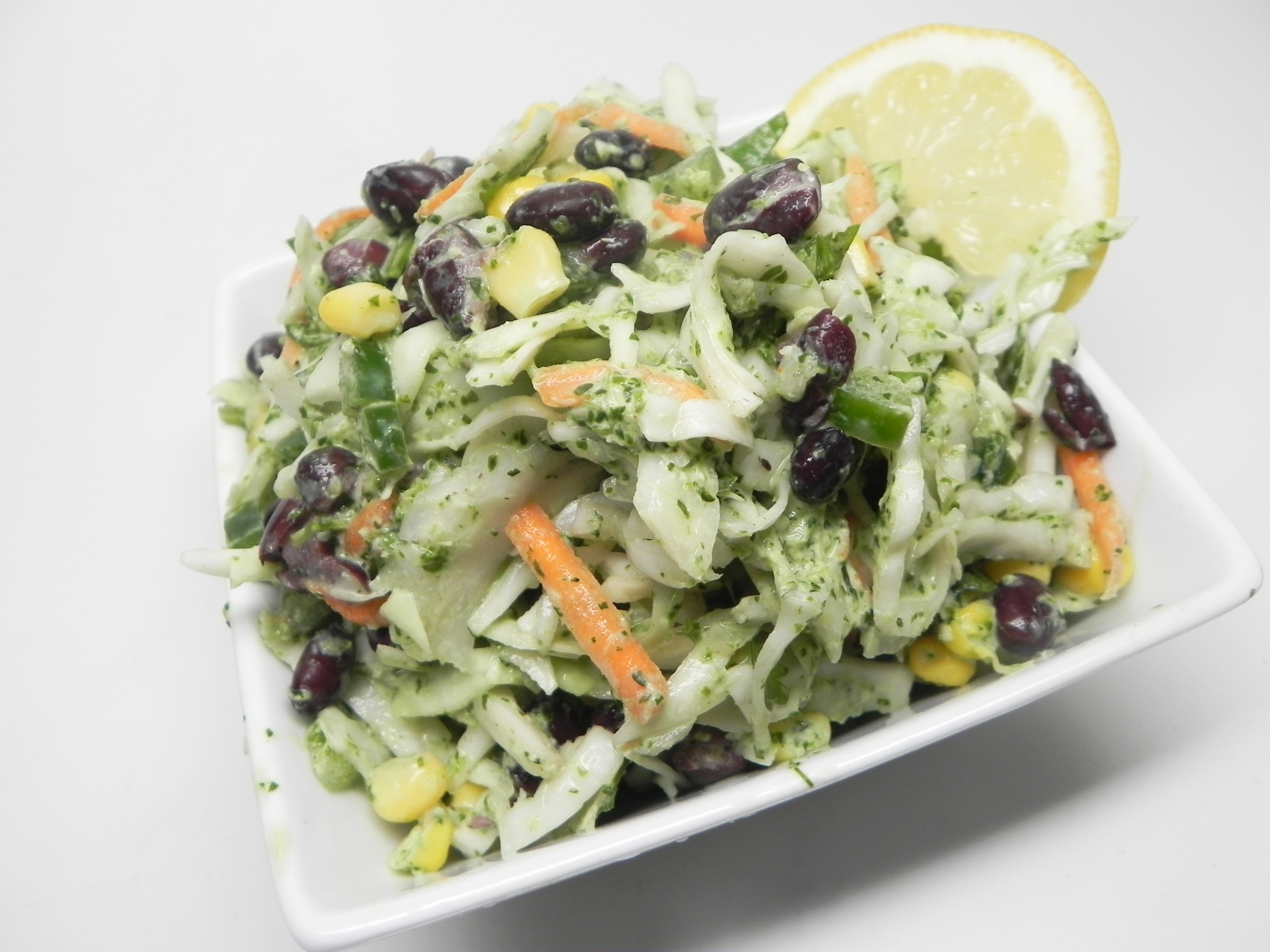 Vegetarian Taco Slaw with Creamy Cilantro-Lime Dressing