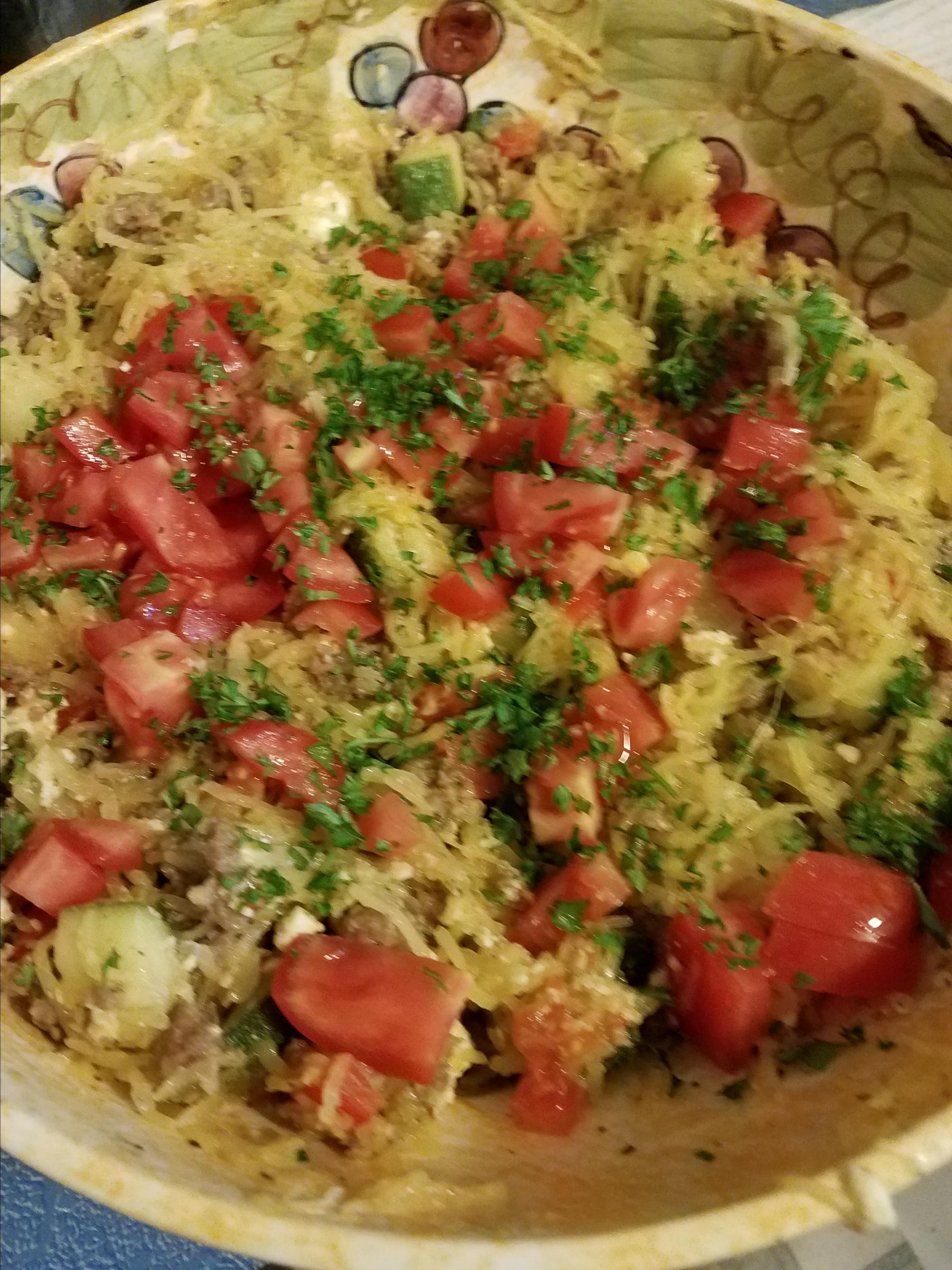 Spaghetti Squash Mediterranean-Style