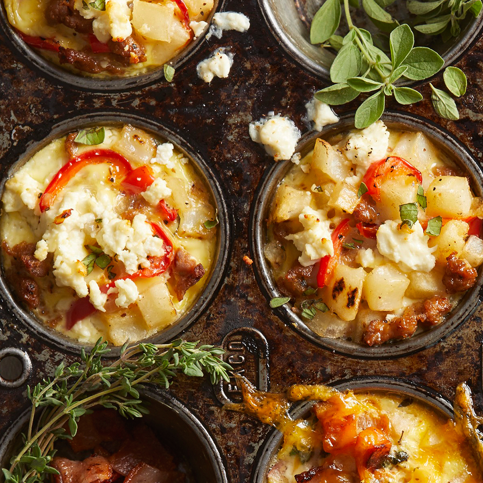 Sausage and Potato Casserole Cups Trusted Brands
