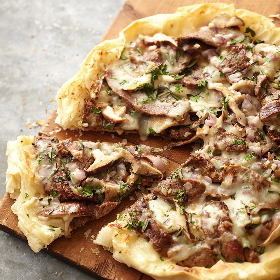 Steak and Mushroom Phyllo Pizza Allrecipes Trusted Brands