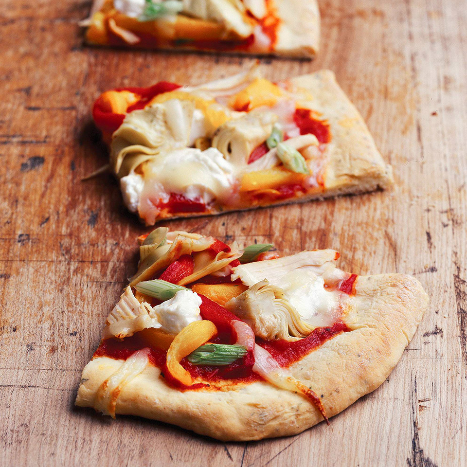 Roasted Pepper and Artichoke Pizza