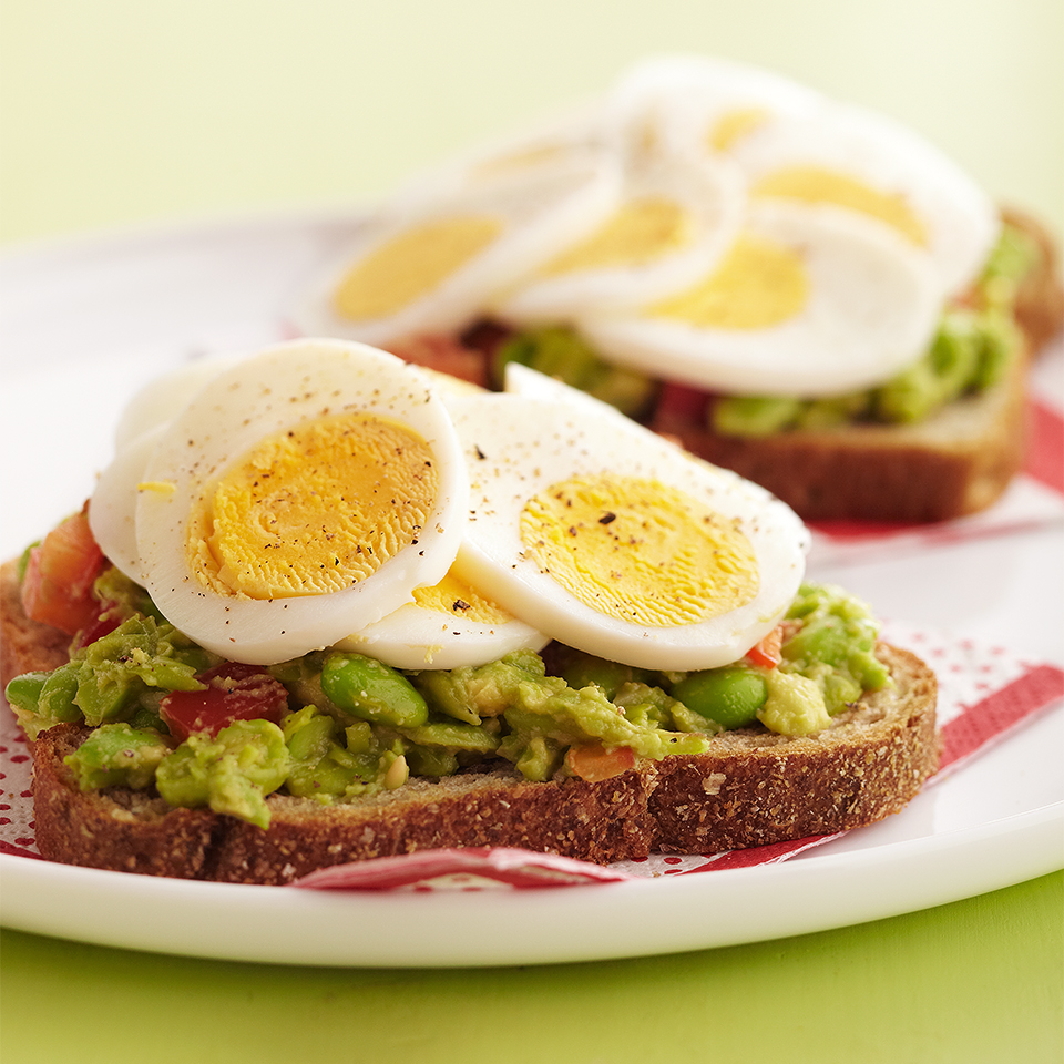 Open-Face Egg Sandwiches Diabetic Living Magazine