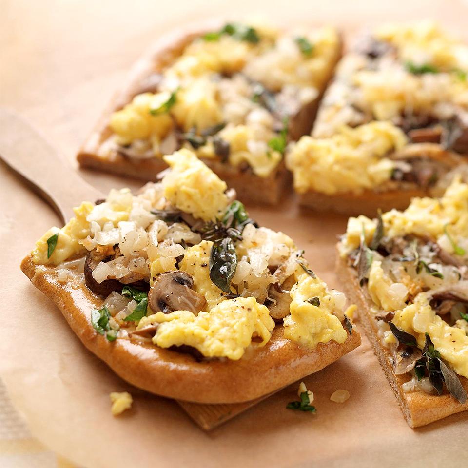 Mushroom and Herb Pizza Diabetic Living Magazine