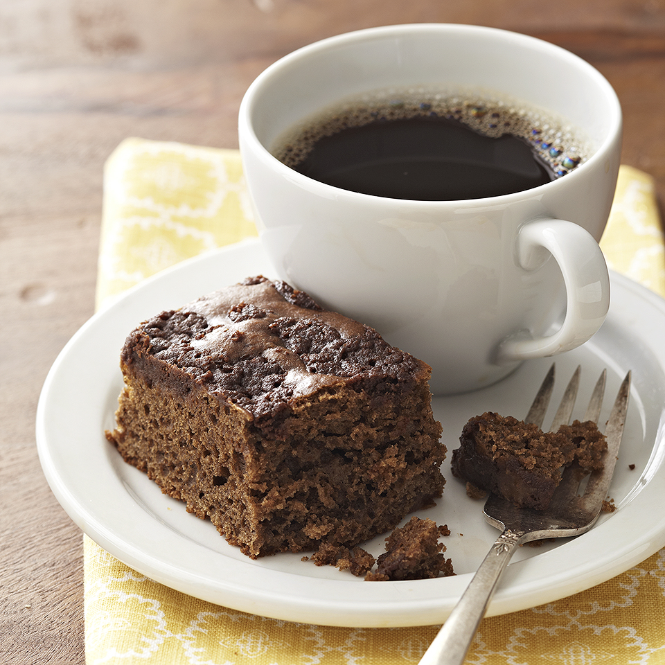 A sweet topping of cocoa powder and cinnamon is baked right into this delicious mocha coffee cake.