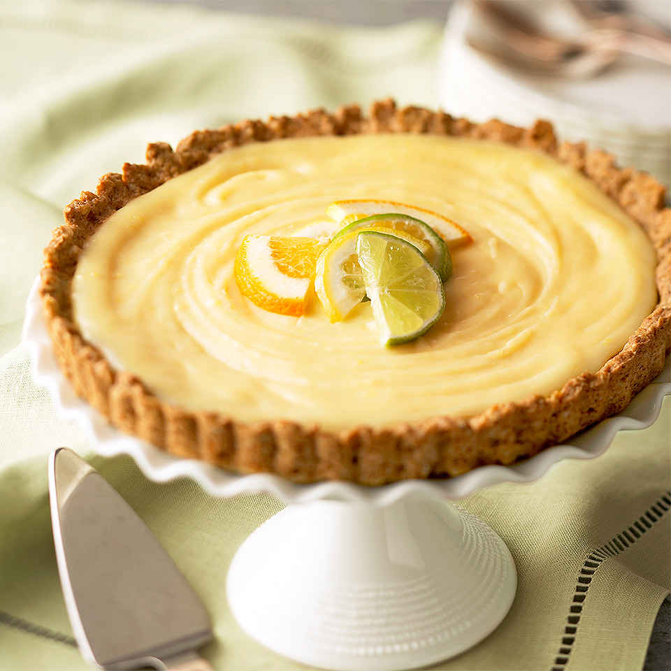 Lemon Tart with Ginger-Oat Crust Diabetic Living Magazine