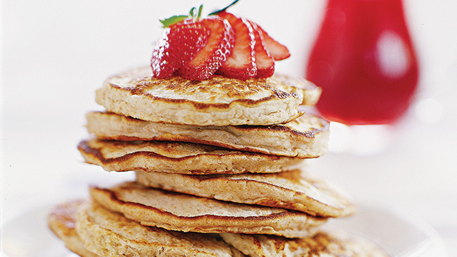 Honey-Oat Pancakes Trusted Brands