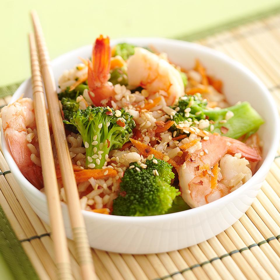 No-Fry Shrimp Stir-Fry Diabetic Living Magazine