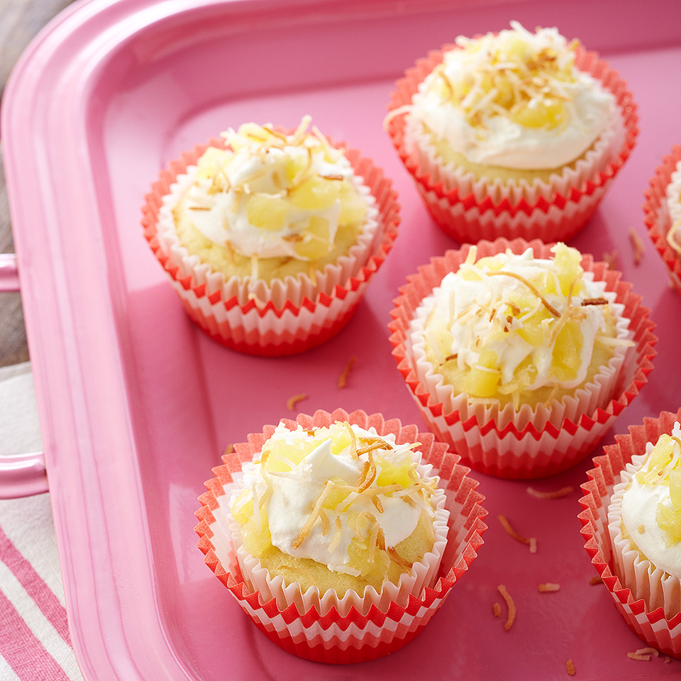 Island Pineapple Cupcakes Diabetic Living Magazine