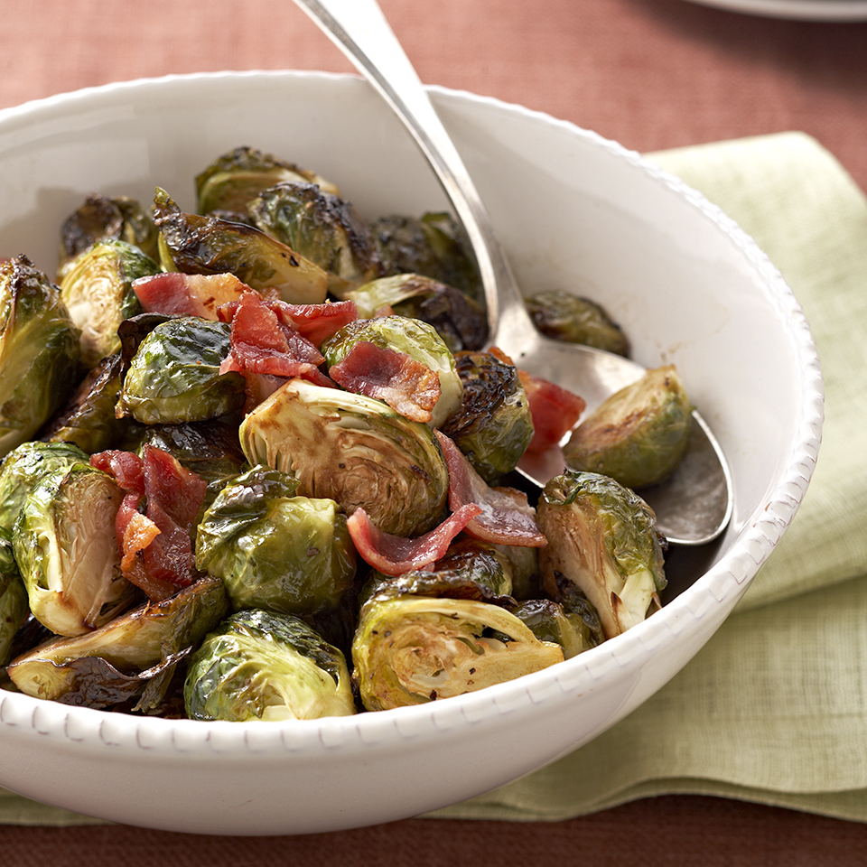 Balsamic Roasted Brussels Sprouts with Bacon Trusted Brands