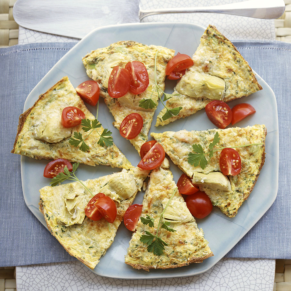 Shrimp-Artichoke Frittata Diabetic Living Magazine