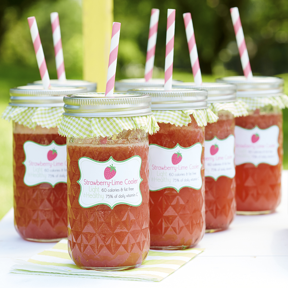 Refresh yourself with a pretty, icy cooler made with coconut water, strawberries, and lime. It takes just minutes to whip up.Source: Diabetic Living Magazine