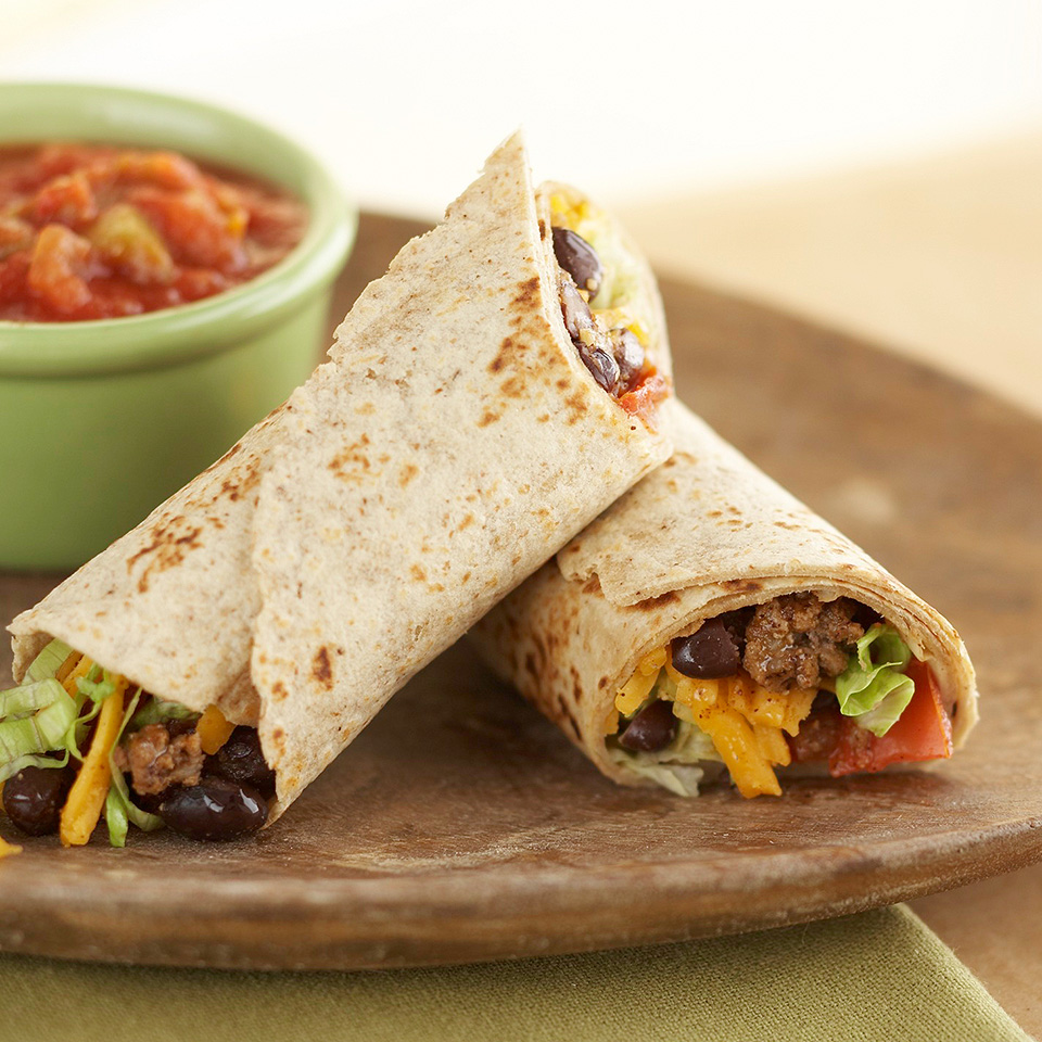Beef and Black Bean Wraps Trusted Brands