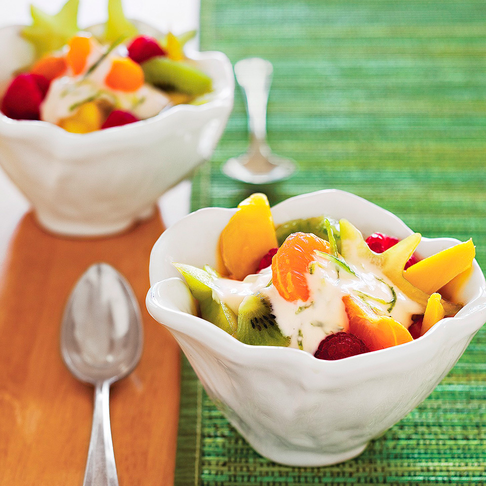Fresh Fruit Salad with Creamy Lime Topping Trusted Brands