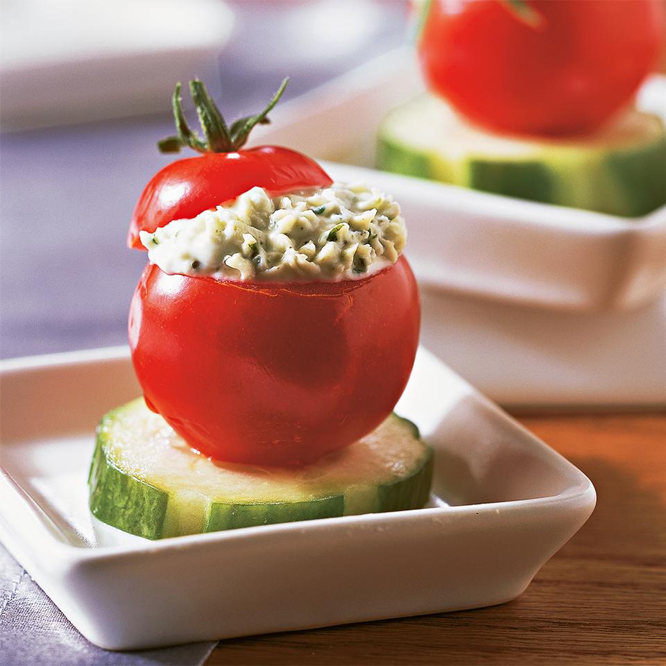 Herb-Stuffed Cherry Tomatoes Diabetic Living Magazine