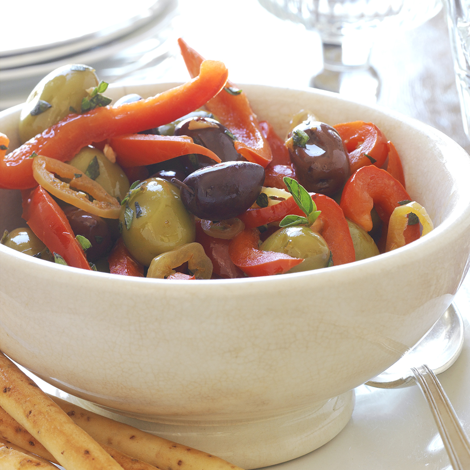 Herbed Peppers and Olives Diabetic Living Magazine