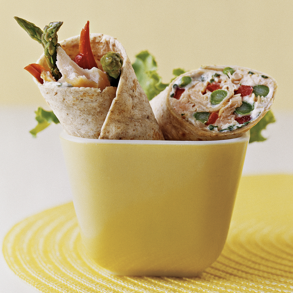 Salmon and Asparagus Wraps Diabetic Living Magazine