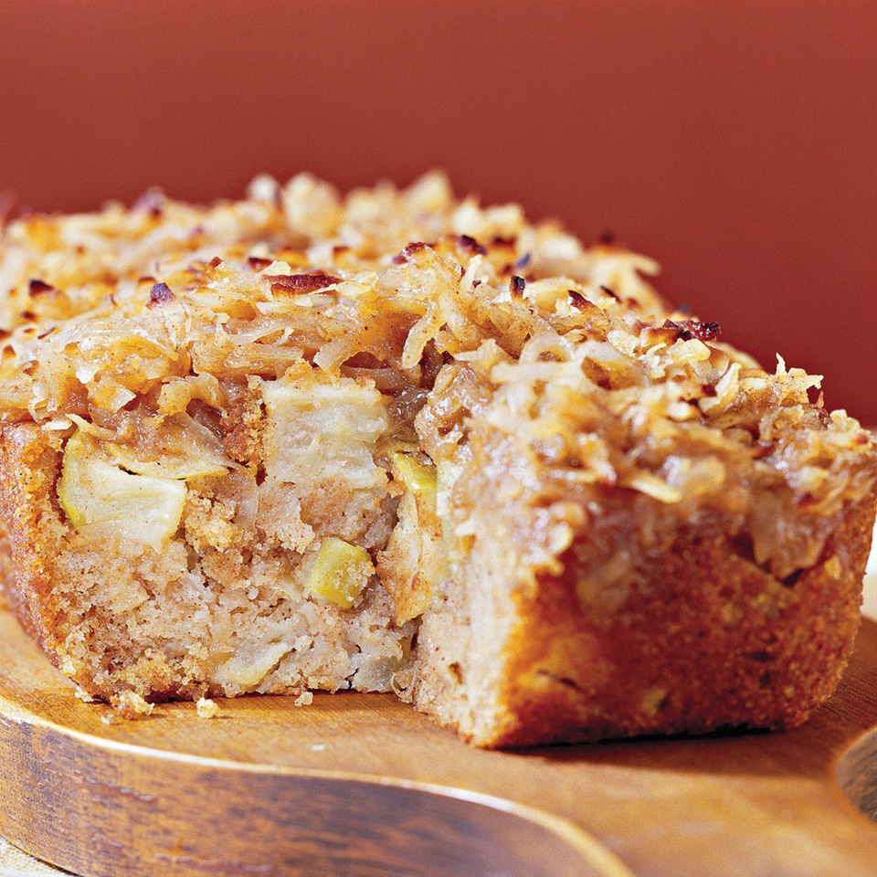 Apple Cake with Hot Coconut-Brown Sugar Topping Trusted Brands