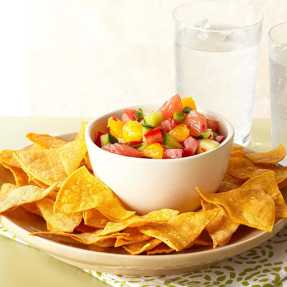 Citrus Salsa with Baked Chips Trusted Brands