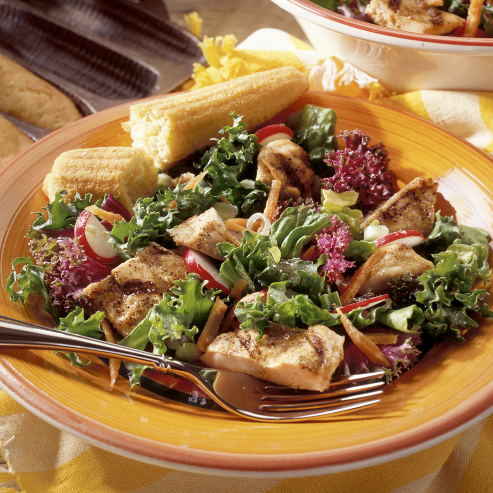 Grilled Cajun Chicken Salad Diabetic Living Magazine