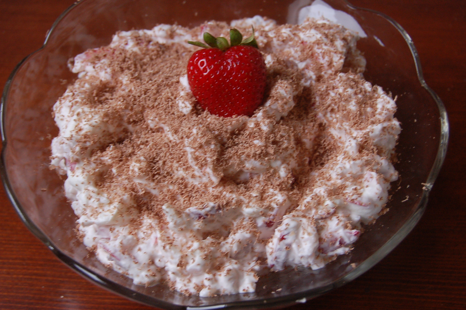 Leftover Rice Dessert with Strawberries