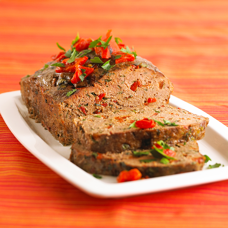 This fabulous meat loaf is moist, tender and colorful. Keep the fat content low in this recipe by using lean ground beef and refrigerated egg product. Source: Diabetic Living Magazine