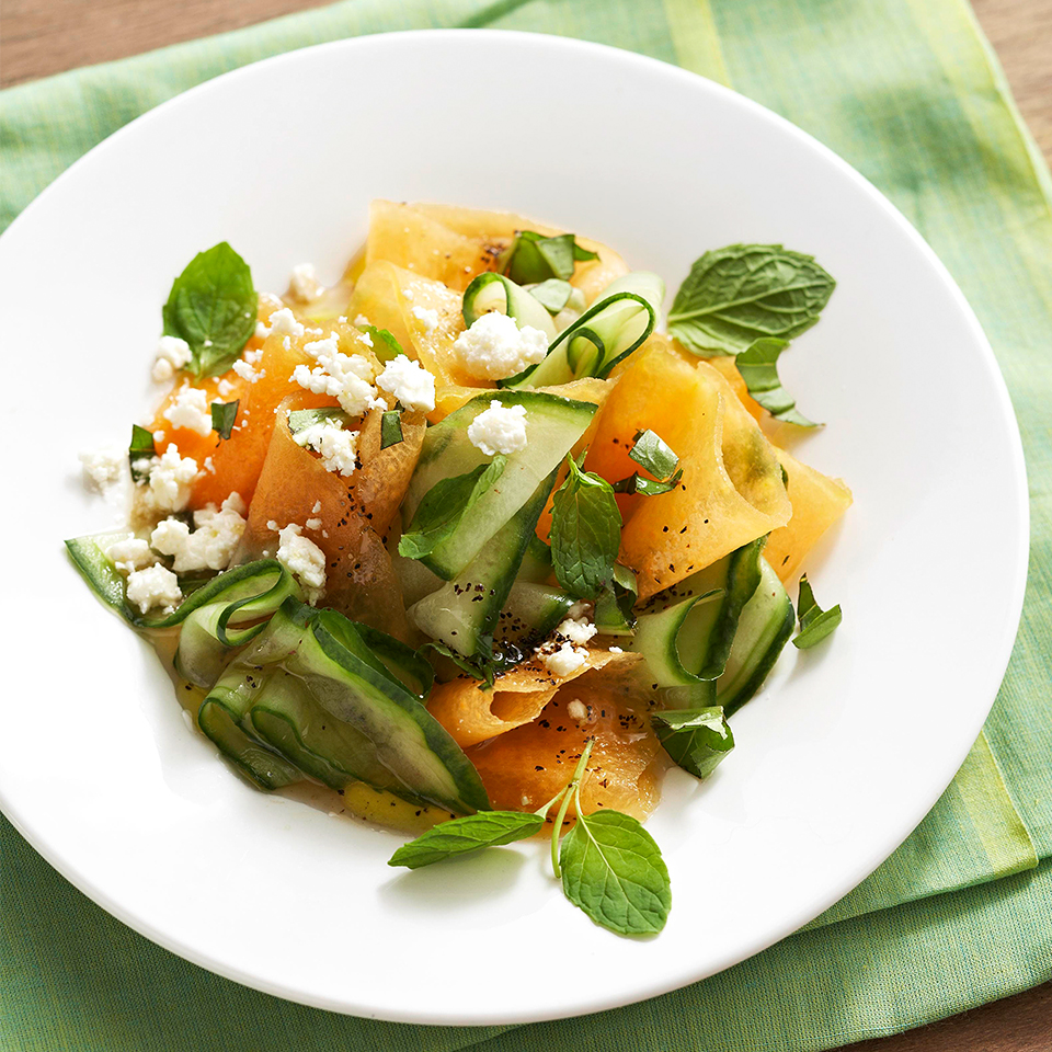 Cantaloupe And Cucumber Salad Recipe Eatingwell Cucumber and cantaloupe salad from the public domain cookbook by the seattle & king county department of public health—original source of recipe, government resource in the public domain. cantaloupe and cucumber salad