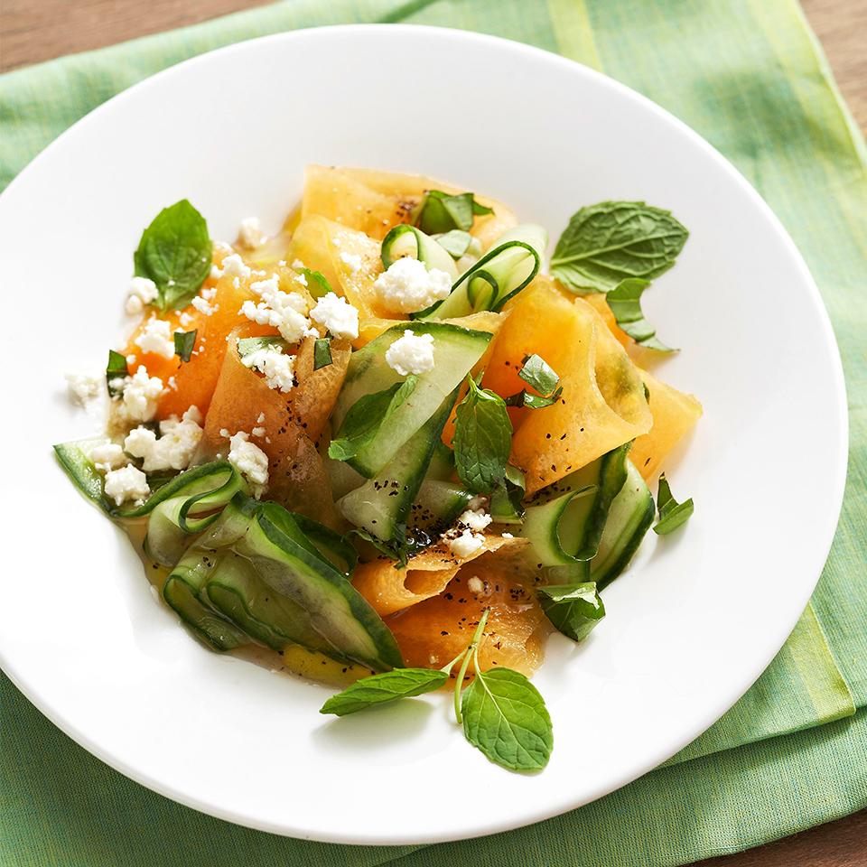 Cantaloupe and Cucumber Salad Diabetic Living Magazine