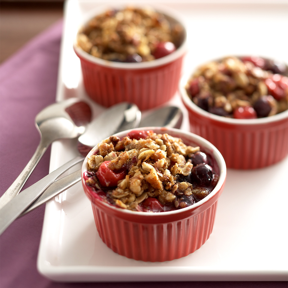 Blueberries, flaxseeds and oats make this fruit crisp dessert good for diabetic meal plans or just healthy eating in general. Source: Diabetic Living Magazine