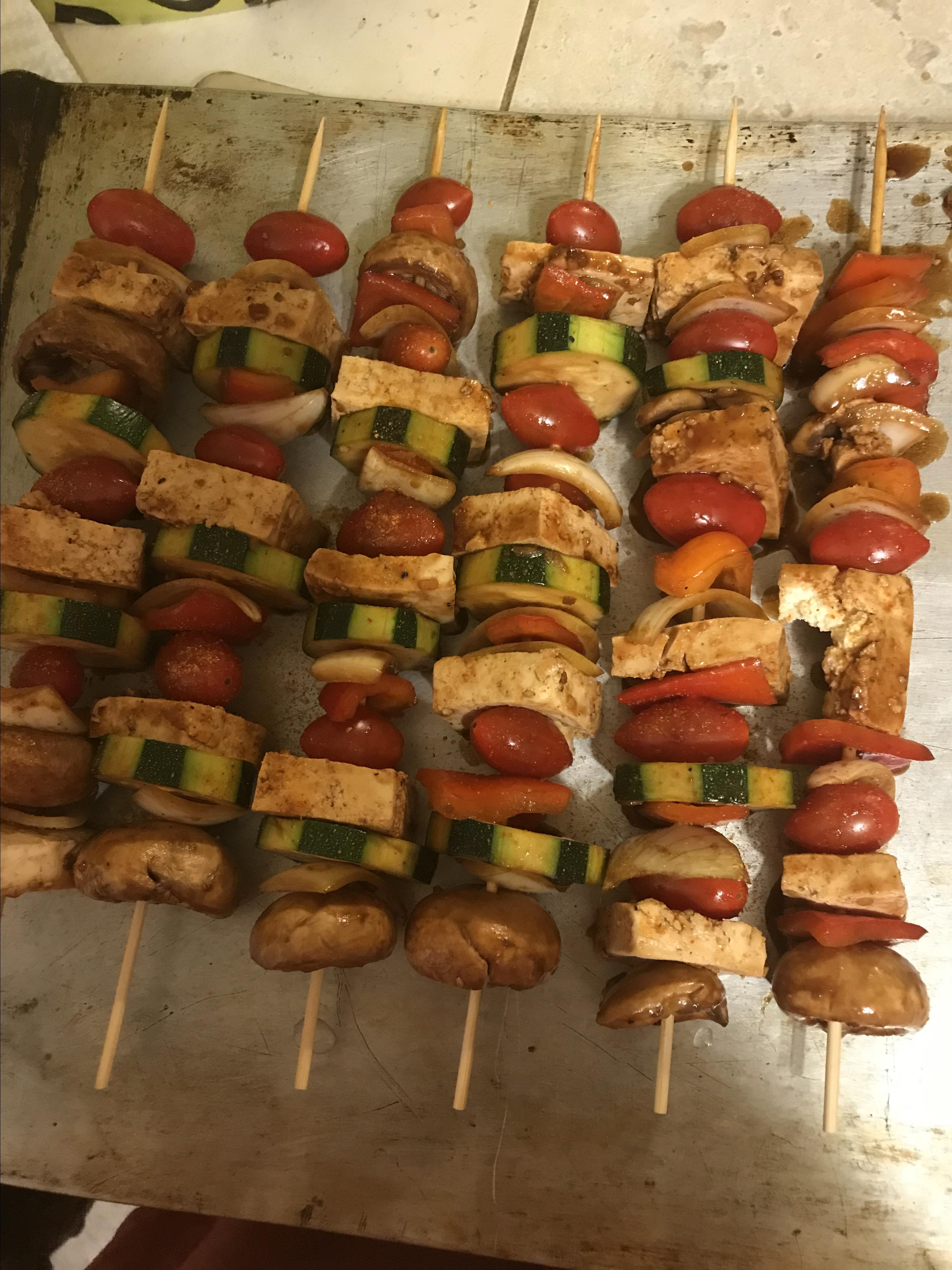Grilled Tofu Skewers with Sriracha Sauce wolfe