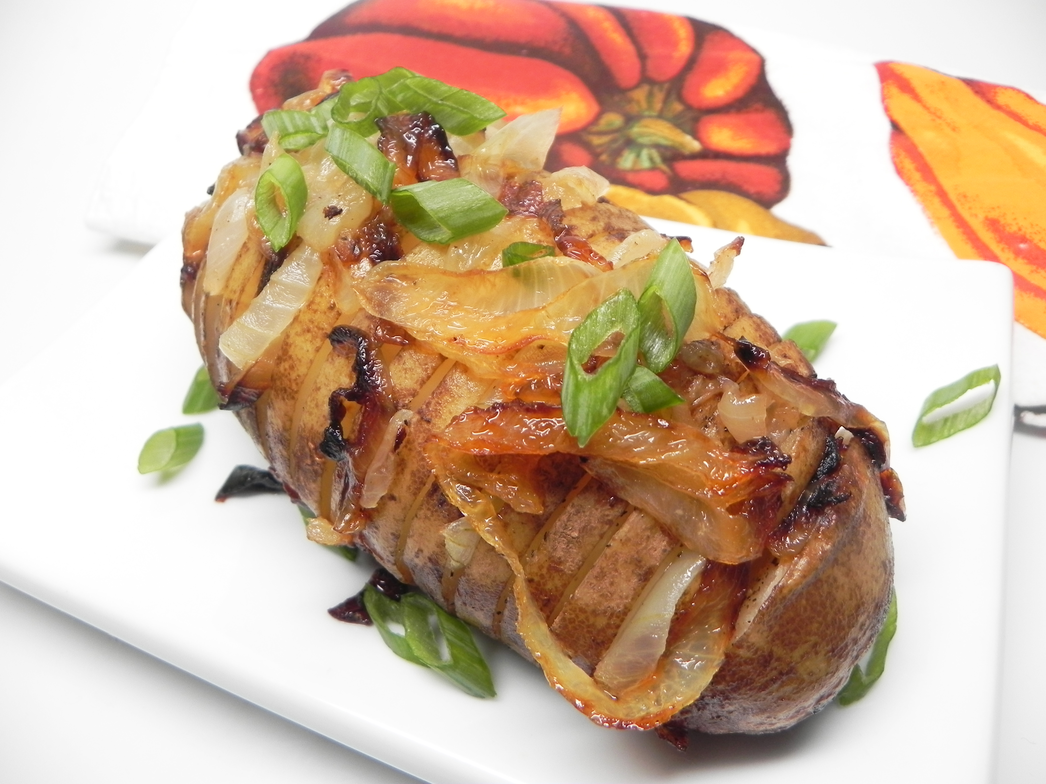 Baked Potatoes on the Grill with Onion
