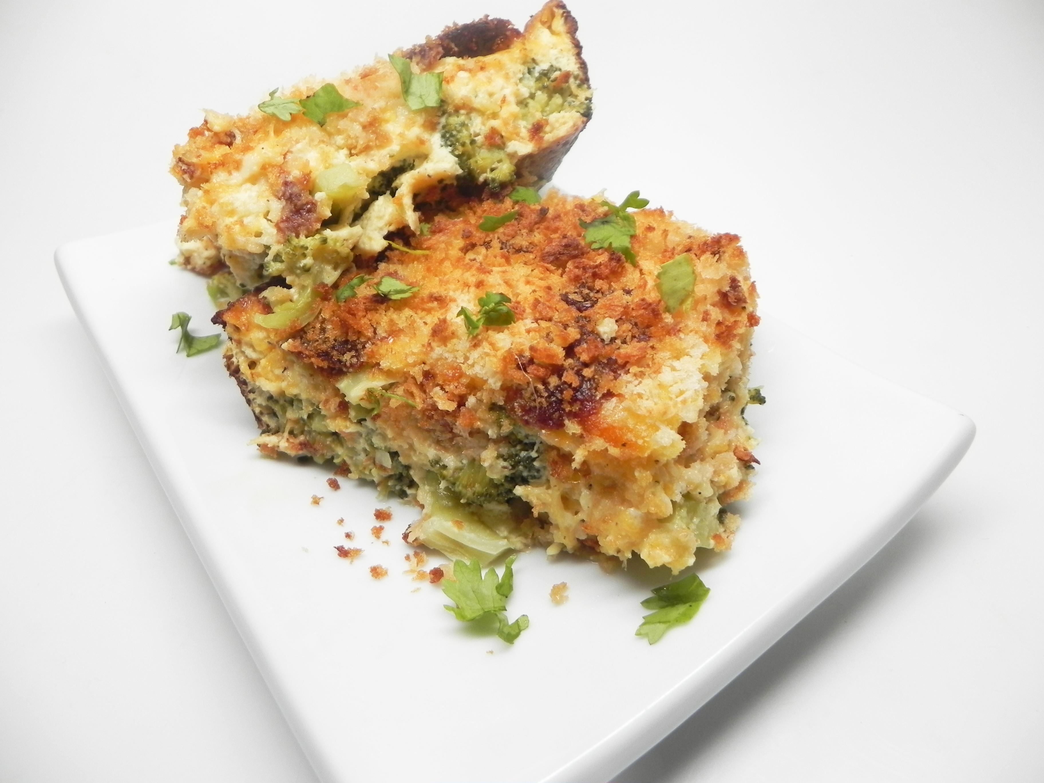 Three-Cheese Broccoli Gratin