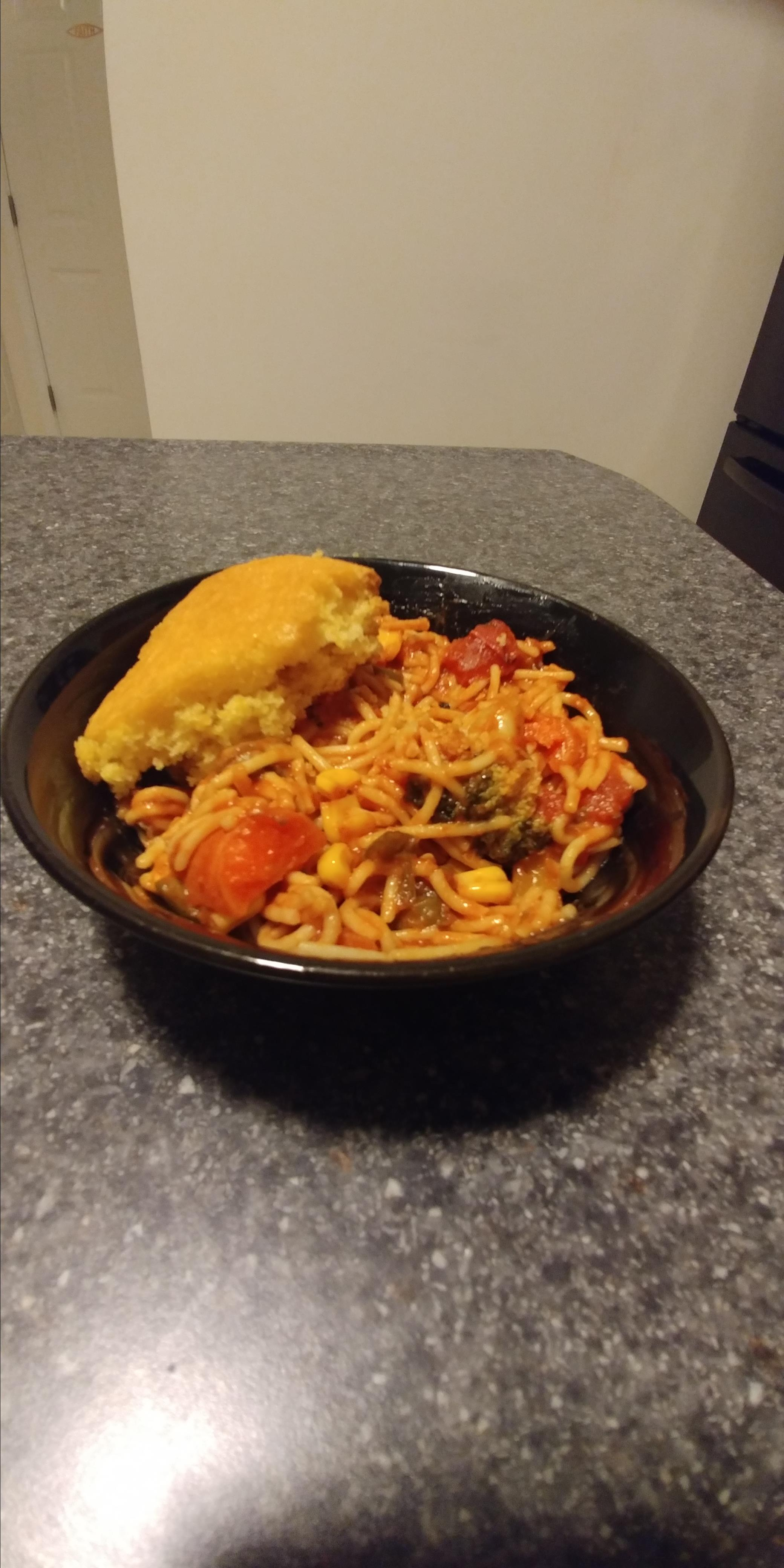 Al's Quick Vegetarian Spaghetti Albert Ross
