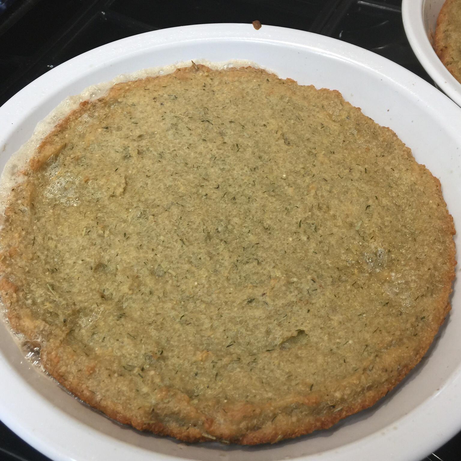 Quinoa and Dill Flatbread